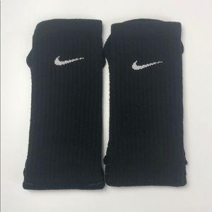 6 pack Men's Nike Black Dry fit Crew Socks Sz L